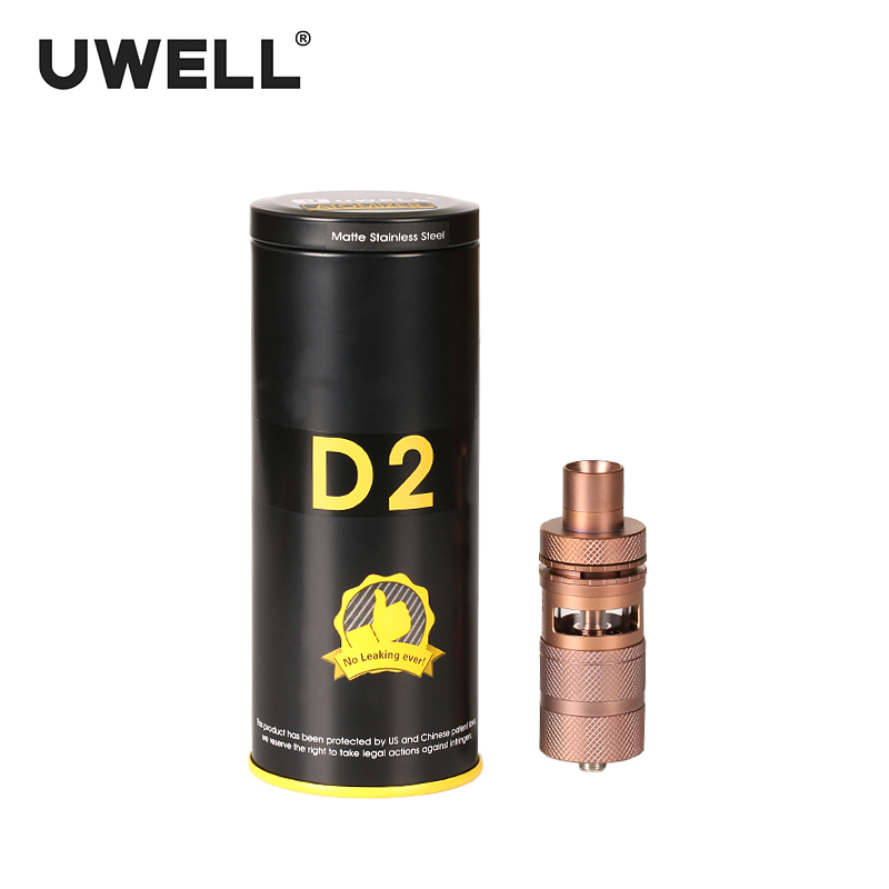 UWELL D2 RTA 4ml Top Filling Method Atomizer Adjustable Airflow 510 Thread Type