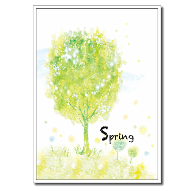 Original Watercolor Spring Frameless Wall Decor Print Abstract ...