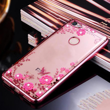 For Xiaomi Redmi Note 5A Case TPU silicone Capa Flower Bling Diamond Clear Soft Pro Prime