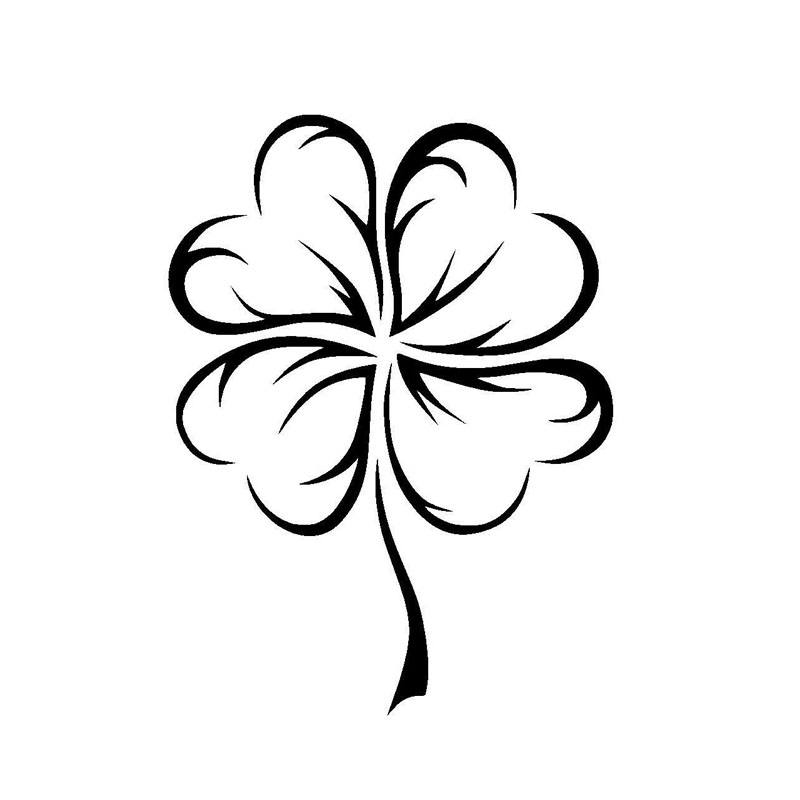 11.2*15.2CM Lucky Clover Car Stickers Personalized Custom Motorcycle Vinyl Decals Black/Silver C7-1268