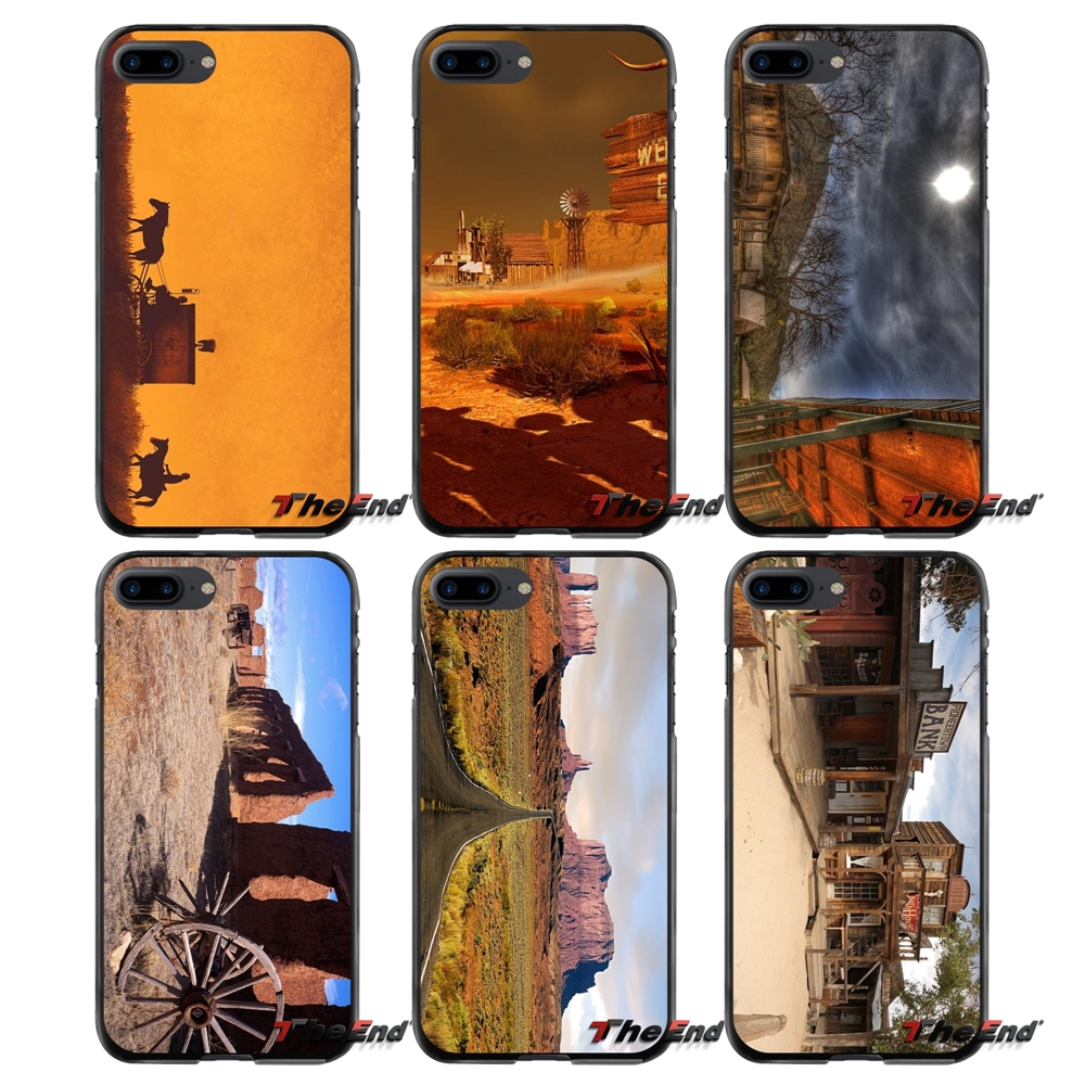 Old West For Apple iPhone 4 4S 5 5S 5C SE 6 6S 7 8 Plus X iPod Touch 4 5 6 Accessories Phone Shell Covers