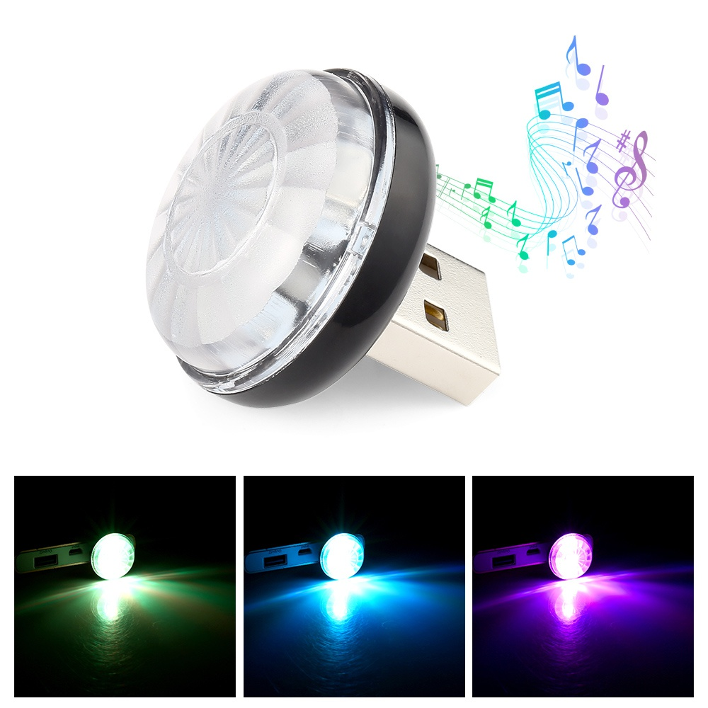 Car RGB Led Interior Lamp Wireless Mini USB Light Cigarette Lighter Car Atmosphere Light Decorative Lamp Auto Accessories