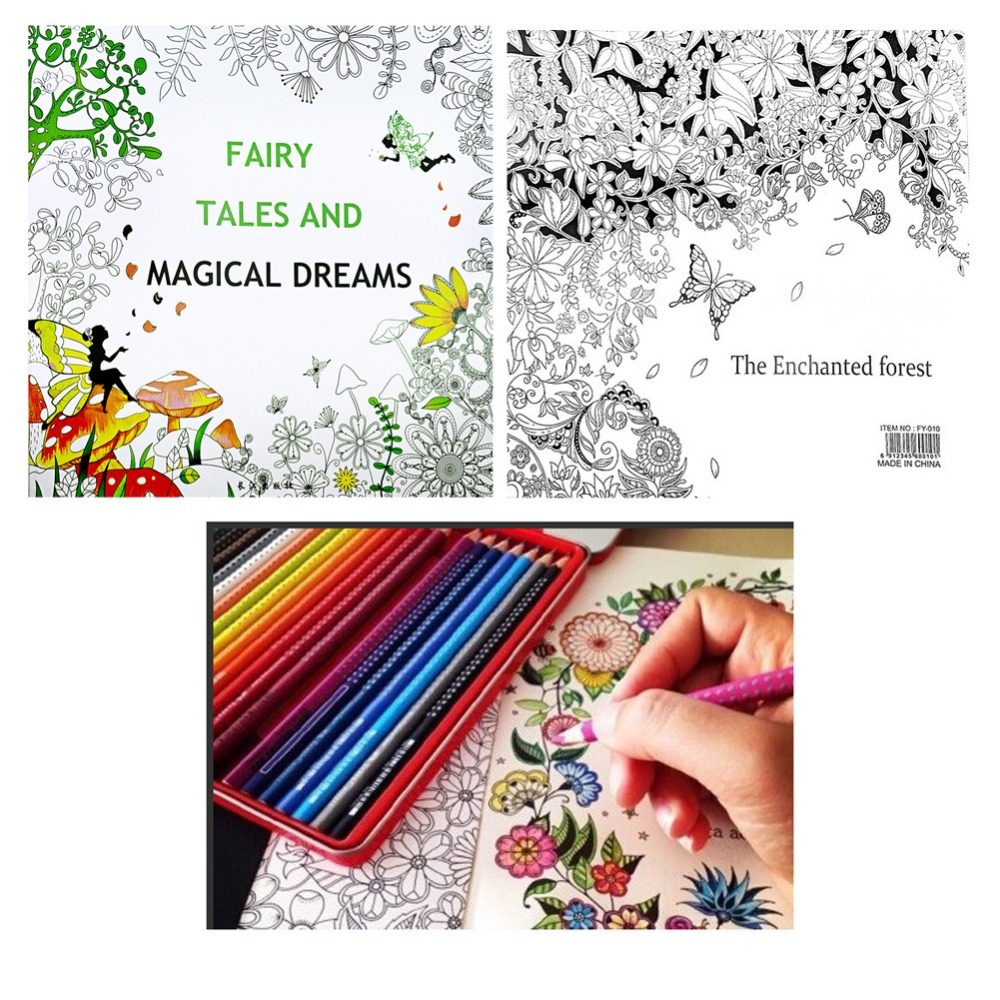 2018 High Quality Fairy Magic, Dreams And Fairy Tales Children Graffiti Coloring Book 25 * 25cm)