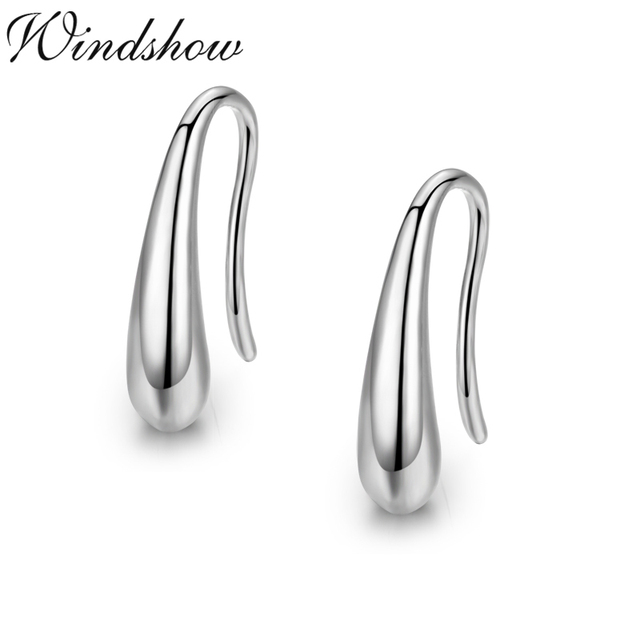 Pure Real 925 Sterling Silver Teardrop Earrings For Women S Children Kids Jewelry Orni Aros Aretes
