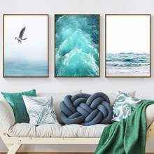 Seabird Seascape Wall Art Canvas Painting Nordic Poster Posters and Prints Seaside Pictures For Living Room Unframed