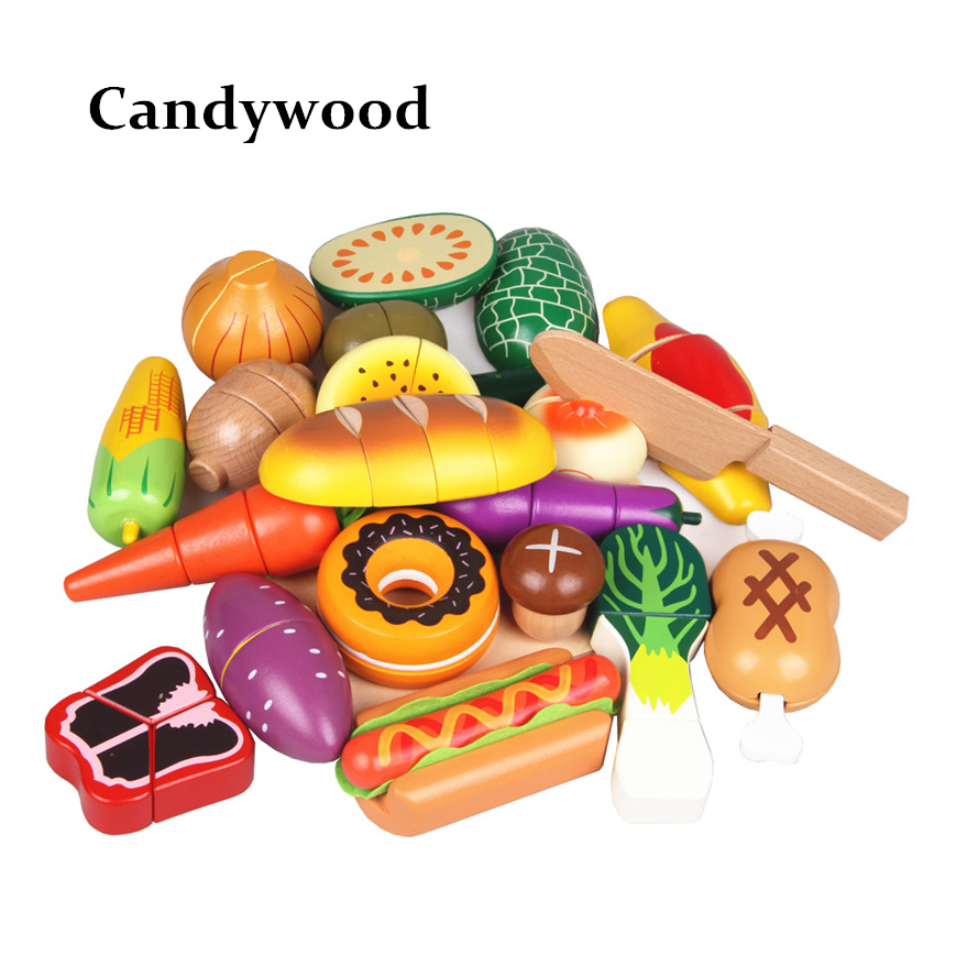 Play Cooking Toys : Pcs kids kitchen food toys high quality lovely wooden