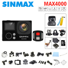 SINMAX action camera Max4000 remote Ultra HD 4K 30fps WiFi 1080P 60fps 2.0 LCD 170D sports go camera pro waterproof better H9R