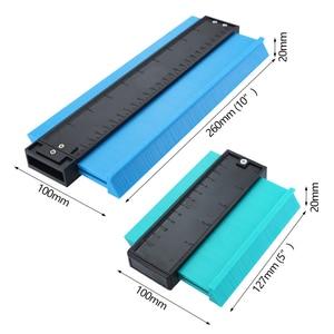 Image 2 - 5/10 Inch Contour Gauge Plastic Profile Copy Gauge  Profile Jig Guide Marking For Tile Edge Shape Copy Measuring Tool