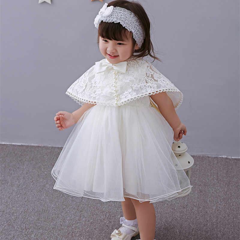 e67c22c22 Latest Set Of One Year Old Baby Girl Birthday Dress Princess Wedding  Vestidos Tutu 2018 Baby