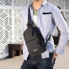 2019 New Casual High Capacity Chest Bag for Men Canvas USB Sling Shoulder Bag Casual Crossbody Camouflage Bag for Short Trip цена