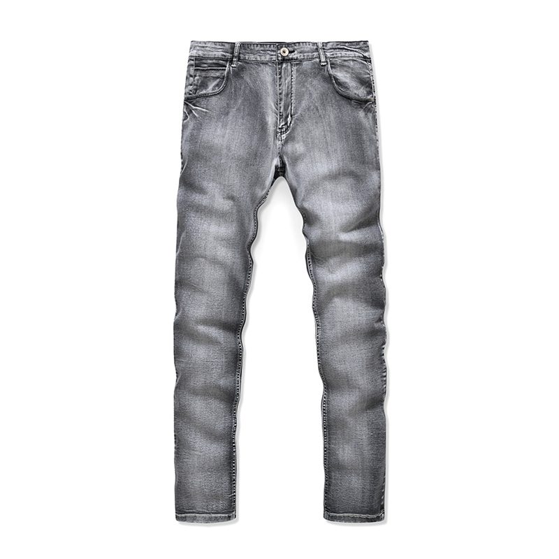 Fashion Washed Denim Pants Men Vintage Slim Fit Man Pencil Panys Hot Sales Black Greadient Mens Jeans Brand Clothing