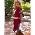 AliExpress explosion models in Europe and America fashion printed shawl Ms. long-sleeved sweater knit cardigan irregular