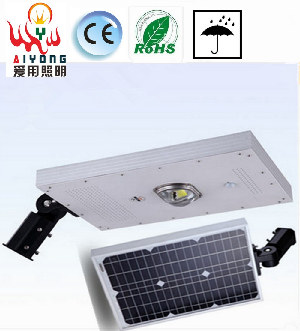 Explosion models waterproof LED integrated solar street lamp pick arm outdoor road super intelligent light sensor d20w30w40w50w60w80w road lamp head can pick arm street lights