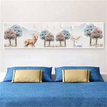 DiamondEmbroidery,China,landscape,scenery,Tree deer, 5D Full Diamond Painting, Cross Stitch, Flower Mosaic, Decoration
