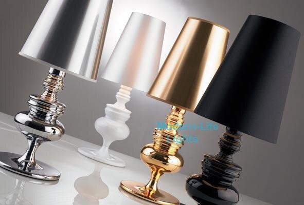 Europäischen Kreative Schwarz Weiß Gold Silber Schlafzimmer Wohnzimmer  Studie Kopf Bett Lampe Schreibtisch Lesen Führte Tischleuchte