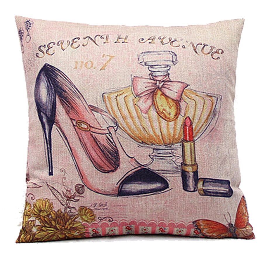 Cartoon Dress High Heels Wedding Decorative Velvet Cushion Cover Home Decor Modern American Style Sofa Throw Pillow Case e1200