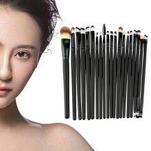 Hot Selling 20 Pcs Makeup Powder Foundation Eyeshadow Eyeliner Lip Cosmetic Brushes Set