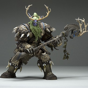 Collection 20cm WOW Online Game Night Elf Druid Malfurion Broll Bearmantle Figure Figurine model Toy Exquisite Collectible Gift 1