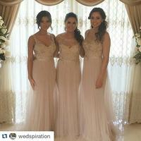 Новое поступление 2019 Длинные Русалка подружки невесты платья для женщин Довольно Тюль с кружево бисером Свадебная вечеринка