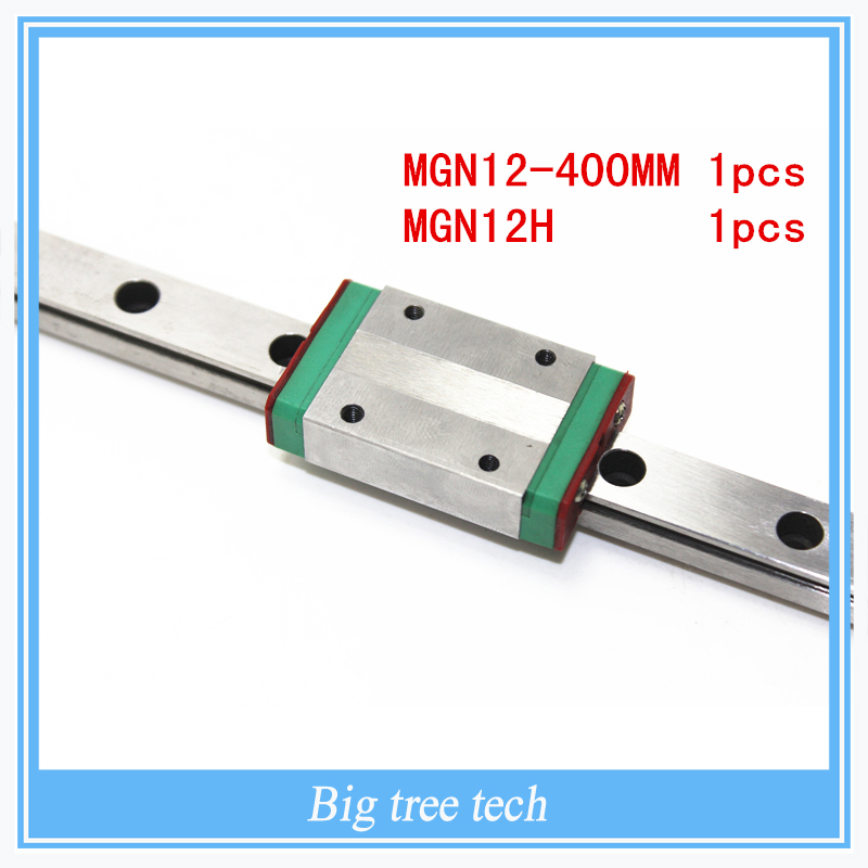 Kossel Mini for 12mm Linear Guide MGN12 Long 400mm linear rail MGN12H Long linear carriage for