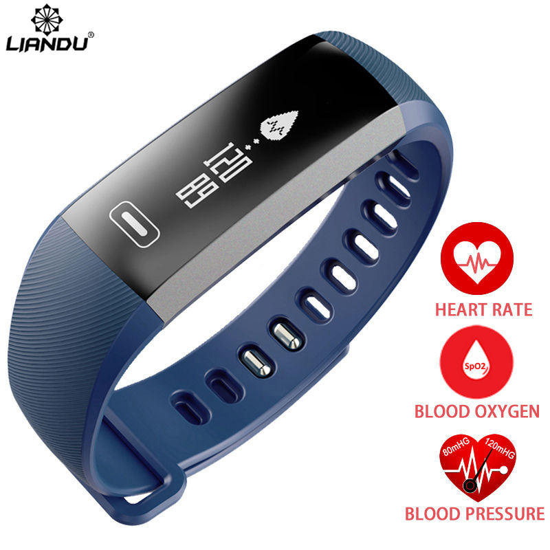 LIANDU Watch Men Smart Bracelet For iOS Android Casual Sport Heart rate Monitor Bluetooth 4.0 Fitness Activity Watches For Mens gagafeel smart watch for men women qs80 bluetooth smart watches fitness heart rate monitor smart bracelet for android ios