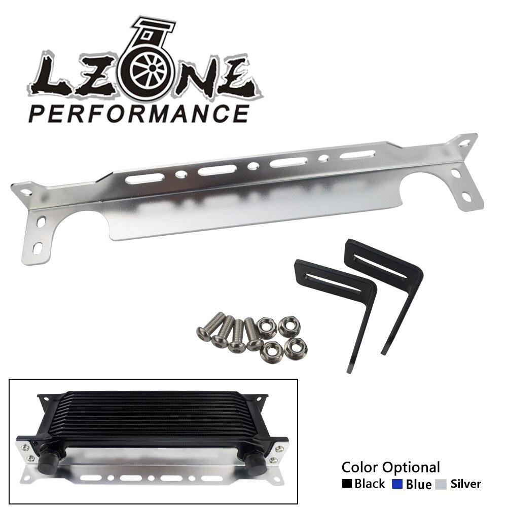 LZONE-New British type Universel Refroidisseur D'huile Moteur Support De Montage Kit 2mm D'épaisseur En Aluminium JR-OCB01