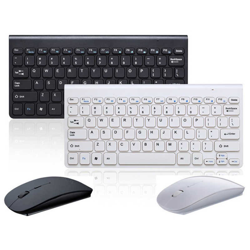 Mini Wireless Mouse Keyboard untuk Laptop Desktop Mac Komputer Rumah Kantor Ergonomis Gaming Keyboard Mouse Combo Multimedia