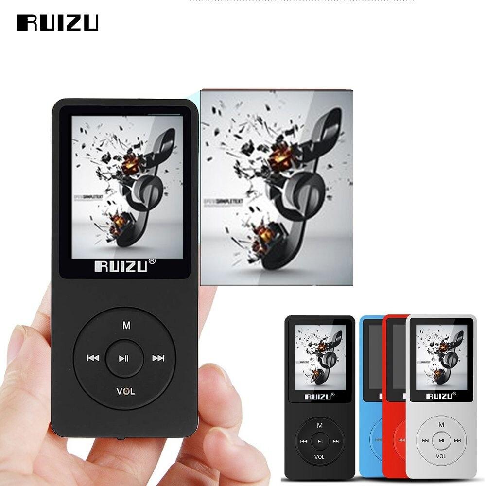 Оригинальный ruizu x02 MP3-плееры 8 ГБ с 1.8 дюймов Экран может играть 100 часа с fm, электронная книга, часы, данных Спорт MP3 плеера автомобильный