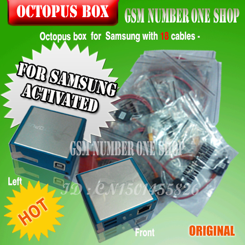 The Newest version 100% Original Octopus box for Samsung New Edition (package with 18 cables)ForS5& N900T&N900A&N9005.