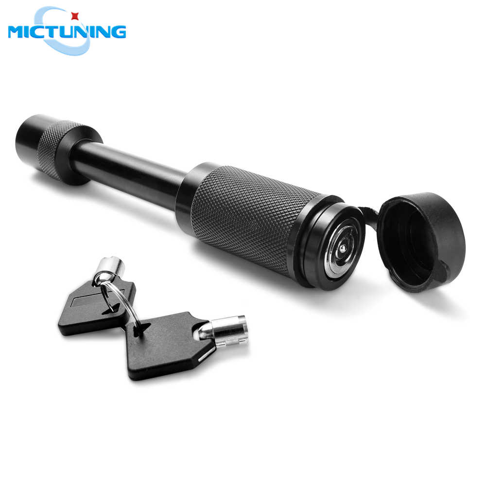 "MICTUNING Heavy Duty 5/8"" Trailer Hitch Pin Lock Plum Blossom Lock Core 2 Keys & Rubber Cap for Class III, IV, V Hitch Receiver"