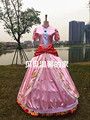Free shipping New Arrival Custom Made High Quality super mario princess peach cosplay costumes