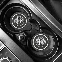 2 шт. Автомобильный держатель для бутылки с водой Противоскользящий коврик силикагель для Alfa Romeo 159 147 156 giulietta 147 159 mito nподголовник