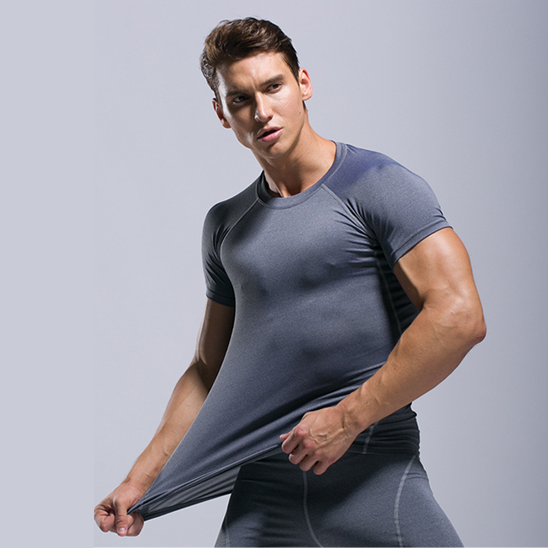 Running Shirt Man T-Shirt For Fitness Short Sleeve Tee Sport Shirt Raggard For Men Compression Shirt Man Compression Tshirt Gym