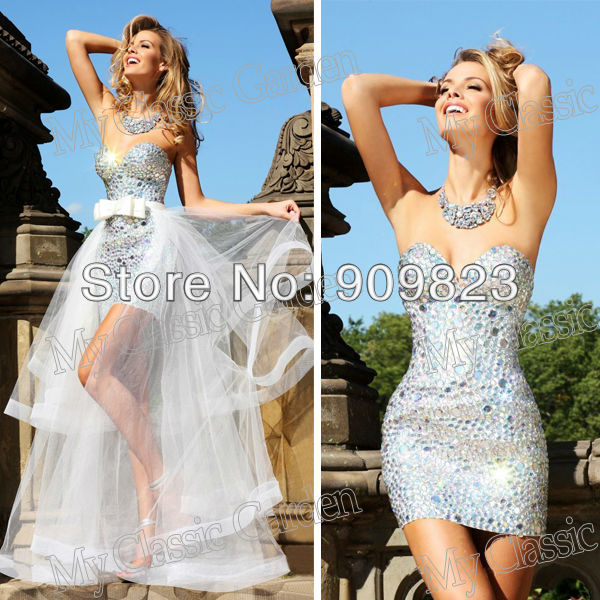 Aliexpress.com : Buy New Sweetheart Silvery Beaded Detachable ...