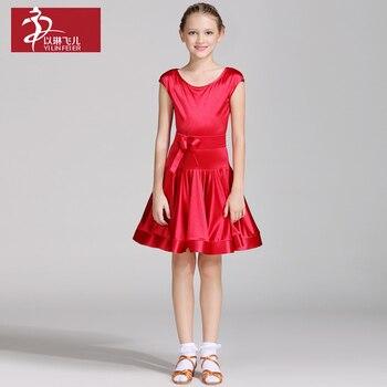Girls Latin Dress Girls Ballroom Dance Dresses Kids Samba Dancing Suit Kids Salsa Costumes Dancing Skirt  6 Sizes B-6483