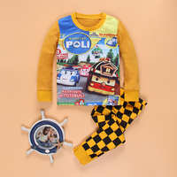 Pajamas For Children Baby Underwear Kids Sets Long Sleeves Clothes For Girls Boys Cotton Cheap And