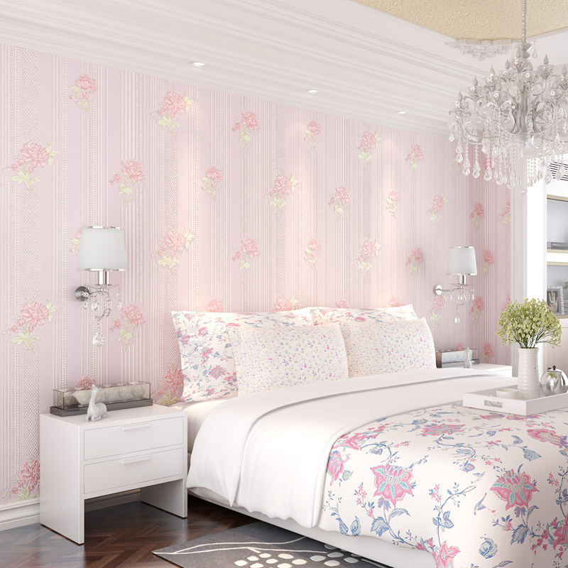 beibehang Simple Pastoral Floral Nonwovens Wallpaper Warmer Bedroom Living Room Sofa Background Wallpaper papel de parede beibehang papel de parede pastoral environmental nonwovens wall paper warm small floral living room bedroom background wallpaper