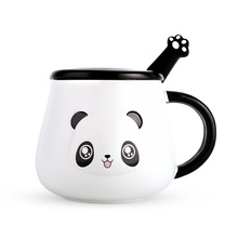 Big kawaii Panda Mugs ceramic cup coffee mugs milk mugs tea cups thermal water bottles with spoon lid For Kids Christmas gift upart hand operation cylinder logo screen printing machine for pens bottles cups mugs