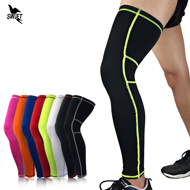 1 PC Long Cycling Leg Warmers Basketball Leg Sleeve Knee Pads Elastic Football Shin Guard Gym Leggings Protective Sports Safety