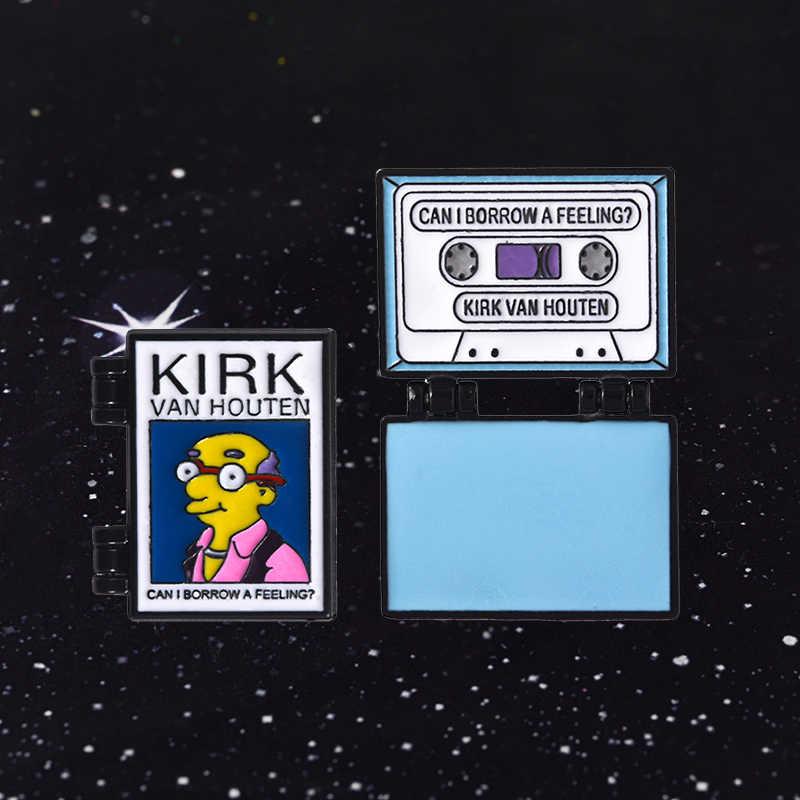 Posso Prendere In Prestito una Sensazione Album? Smalto Spille Spille Distintivo The Simpsons Kirk Vanhouten Smalto Duro di Vibrazione Spille Spille