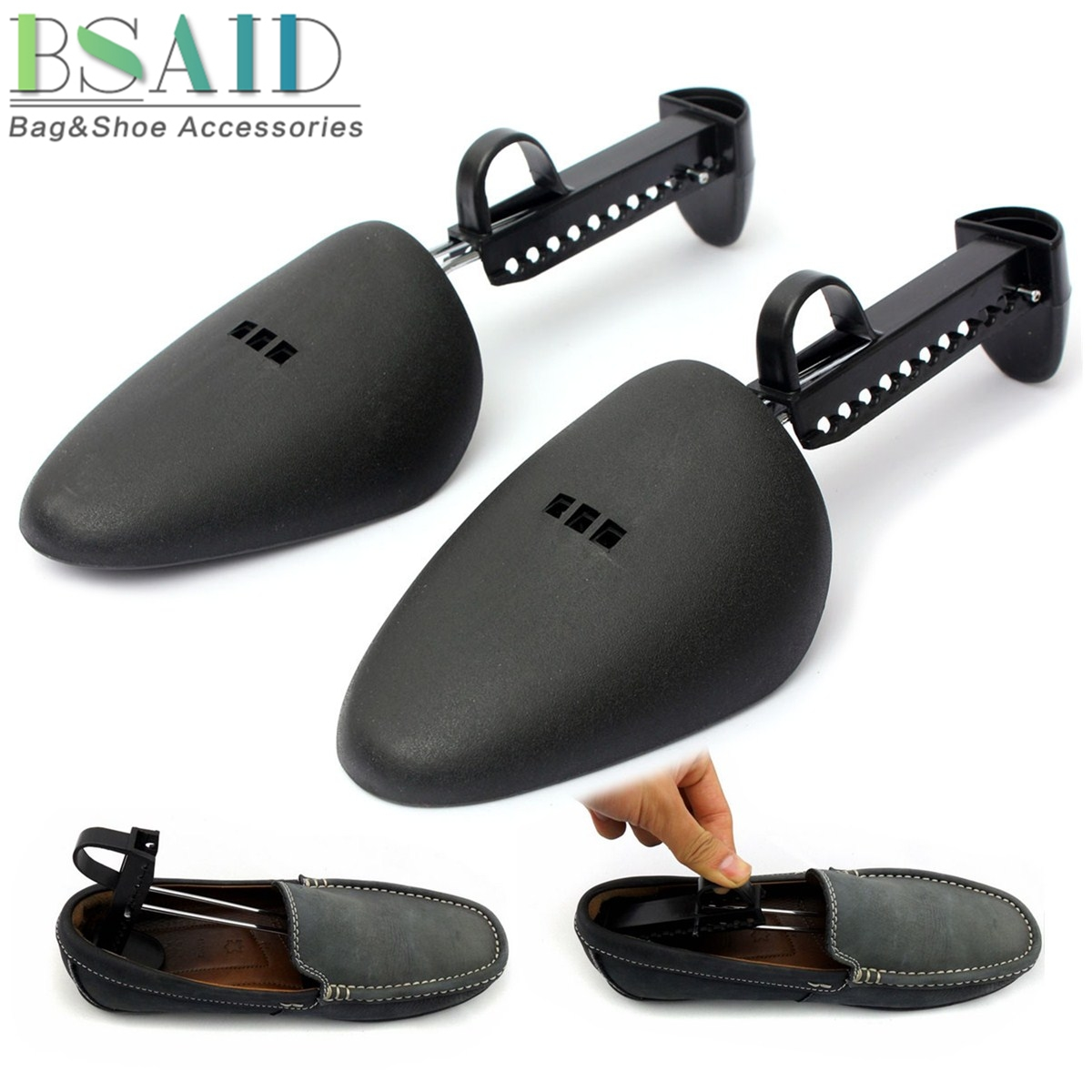BSAID 1 Pair Shoe Stretcher Shoes Tree Shaper Rack Professional Adjustable Wooden Pumps Boots Expander Trees Holder Shaper New
