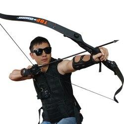 56 pulgadas 30-50lbs arco recurvo elevador de Metal caza tiro arco negro entrenamiento empu?adura envío gratis