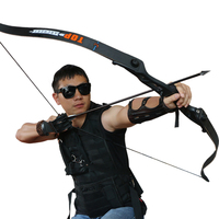 56inch 30 50lbs Archery Recurve Bow Metal Riser Hunting Shooting Bow Black Training Takedown Bow Free