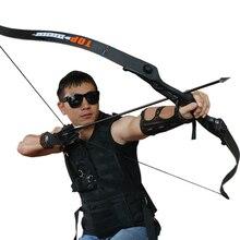 56inch 30-50lbs Archery Recurve Bow Metal Riser Hunting Shooting Bow Black Training Takedown Bow Free Shipping стоимость