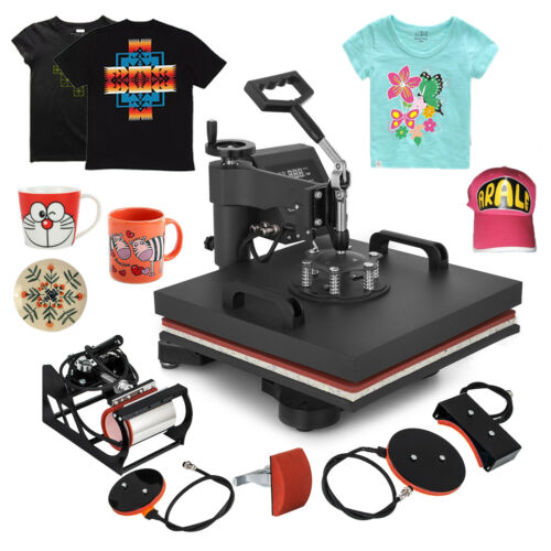 New 5 in 1 Multi function Five in one Heat Press Machine 38cmx38cm 1250W|Personal Care Appliance Parts| |  - title=