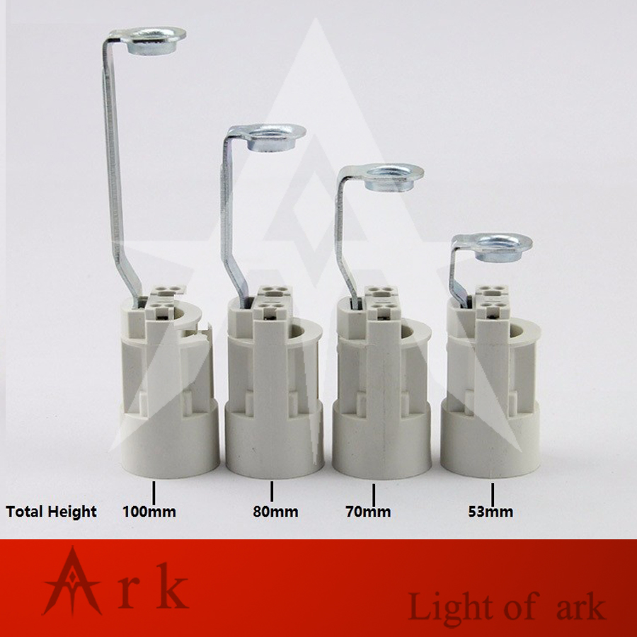 DIY 4pcs/lot E14 lampholder with m10 rack bracket Candle Lamp Holder Retro Pendant Light Candle Chandelier Socket free shipping