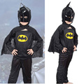 Free Shipping! Halloween Present for Children Fashion Children 's Clothing Children 's Handsome Batman Suit TST0237