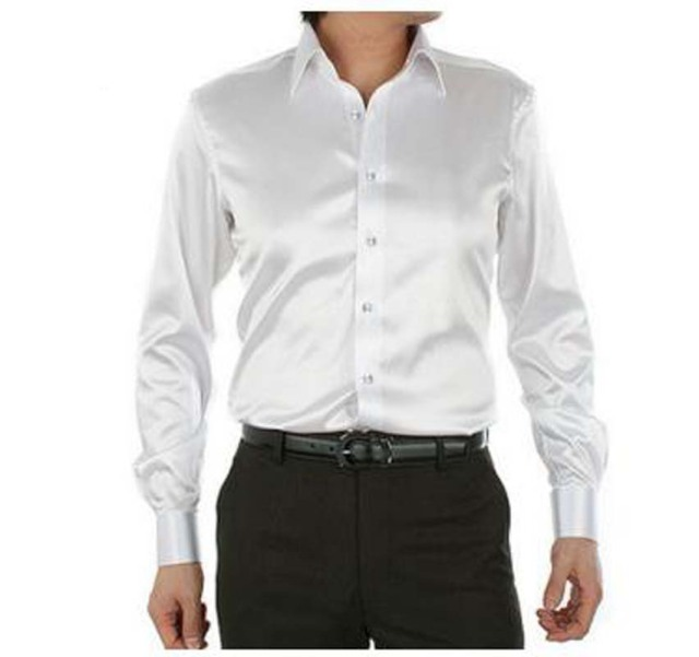 Buy solid white rayon men casual shirt for Where to buy casual dress shirts
