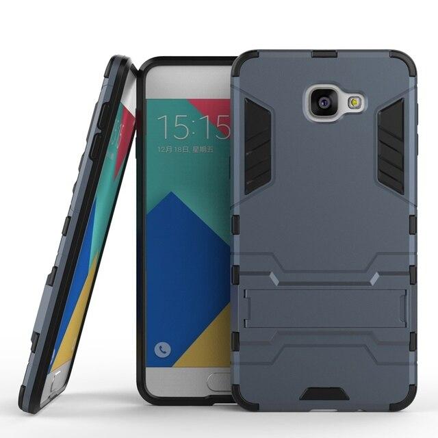 Armor Back Cover Case for Samsung Galaxy A9 2016 SM-A9000 SM-A9000Z PC+TPU 2 in 1 Fundas Kickstand Coque Shockproof