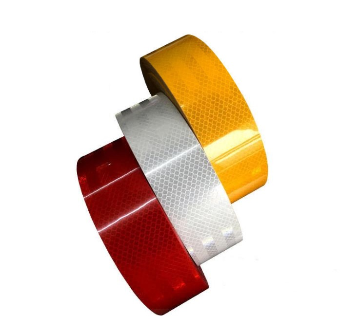 5CM*45M Self-Adhesive PET Super Reflective Warning Safety Tape Truck Road Traffic Construction Site Floor Wall Warning Strip